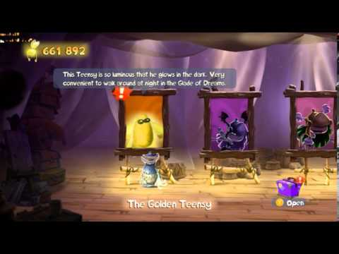 Rayman Legends:How to Unlock The Golden Teensy Character(Secret Character That Glows in the Dark)