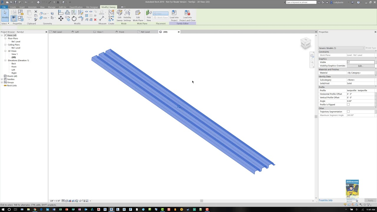Revit 2019 Corrugated Metal Panel Family And Usage Youtube