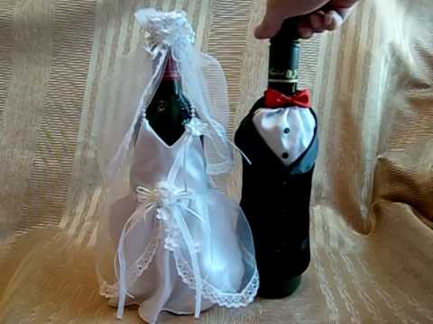 P01 Wedding Wine Bottle Cover (Bride & Groom) (available at www.petitgift4u.com)