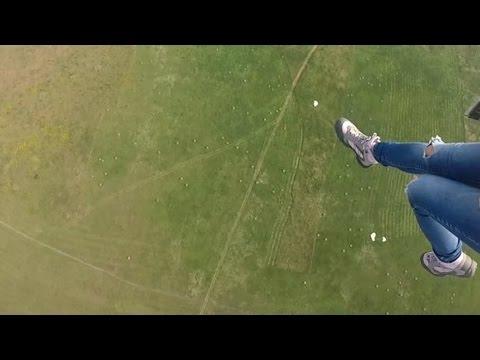 Прыжок с парашютом Д-6. Перекрутились стропы. Экстремальная психология и репортаж из Неба)))
