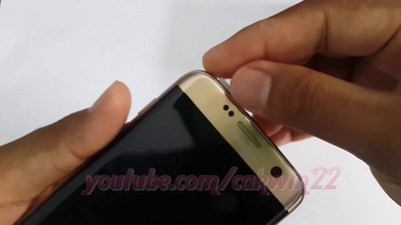 Samsung Galaxy S7 Edge How To Insert Or Remove Dual Sim