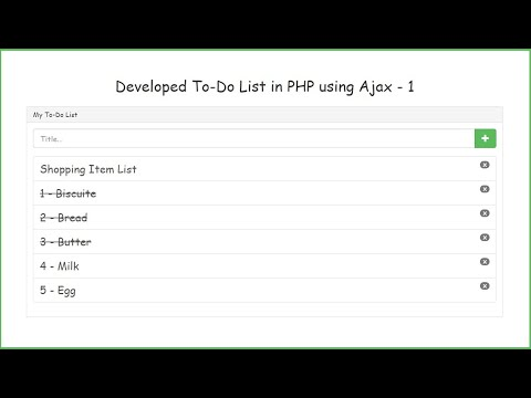 Developed To-Do List in PHP using Ajax - 1