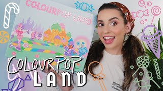 Colourpop Land Collection: Swatches & Demo!