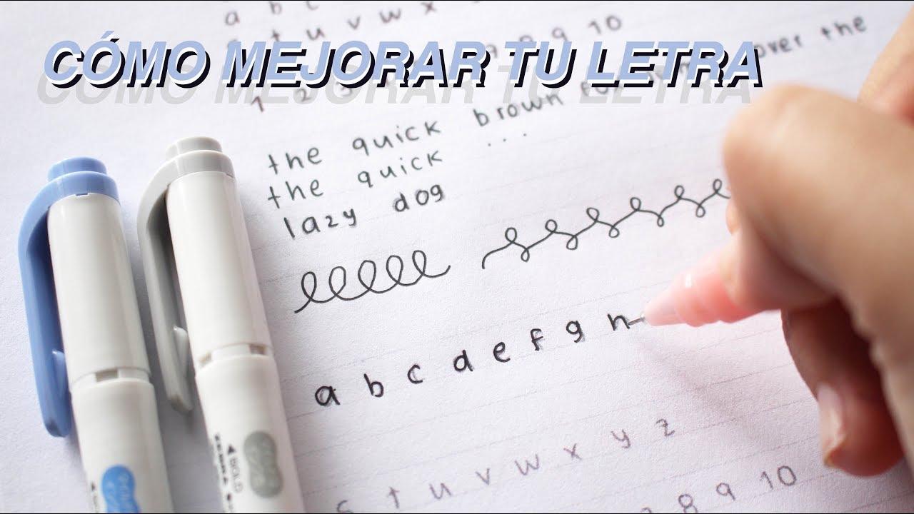 C mo mejorar tu letra letras bonitas plantillas tips youtube - Como mejorar la caligrafia ...