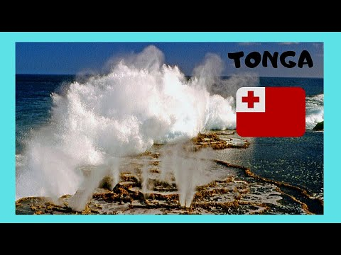 TONGA, the famous natural Blowholes on the island of TONGATAPU