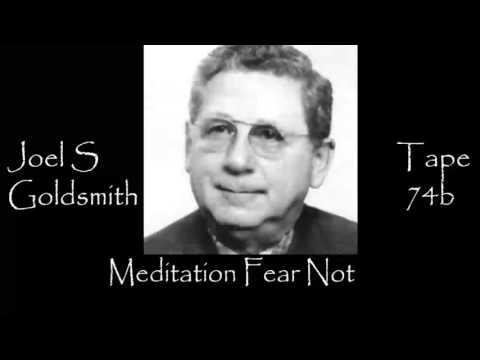 Meditation Fear Not By Joel S Goldsmith