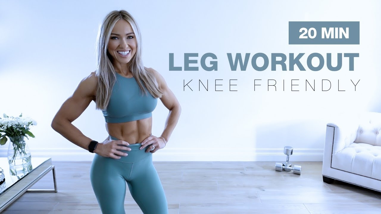 20 MIN KNEE FRIENDLY LEG WORKOUT with Dumbbells   NO JUMPING