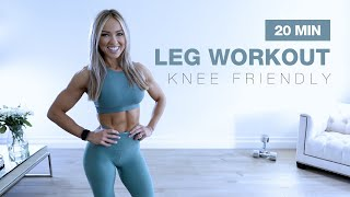 20 MIN KNEE FRIENDLY LEG WORKOUT with Dumbbells | NO JUMPING