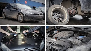 Utter Filth Volkswagen Golf Gets Deep Cleaned & Detailed!!!
