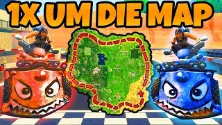 1x um die KOMPLETTE MAP CHALLENGE! | Fortnite Battle Royale