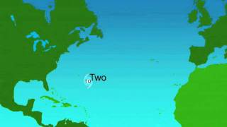 1992 Atlantic Hurricane Season Animation