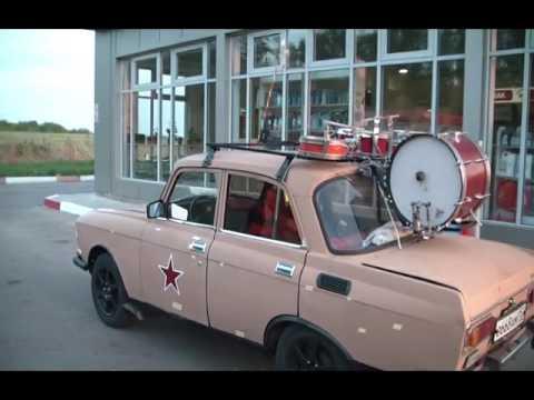 Барабаны на москвиче 9 мая 2016 Кстово