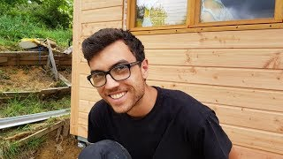 Vlog 100   Building A Tiny House In France