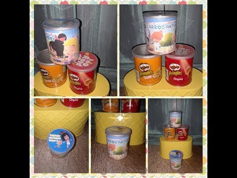 Pringles Wrappers Template & Assembly