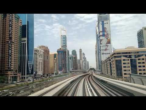 Dubai metro burj khalif
