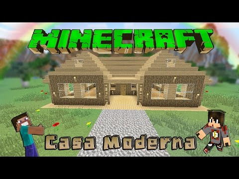 Minecraft casa moderna de madera facil tutorial 1 8 4 for Tutorial casa moderna grande minecraft