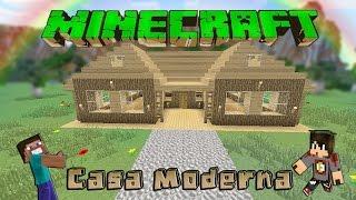 Minecraft-Casa Moderna De Madera /Facil / Tutorial 1.8.4