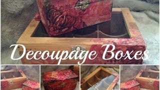 Diy: Decoupage Boxes ♡ {organize Your Life} ♡ Jessica Joaquin