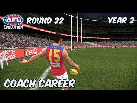 LIVE LADDER - AFL Evolution: Coach Career - Round 22 (Year 2)