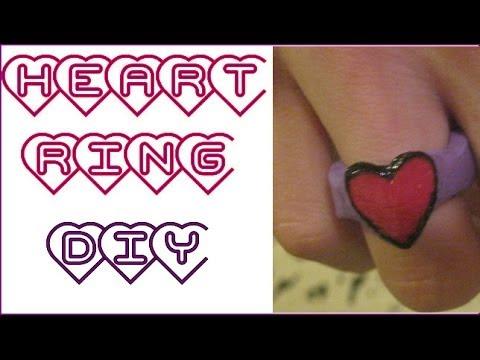 DIY Wood Heart Ring!