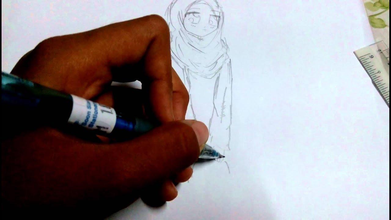 Cara Melukis Anime Muslim