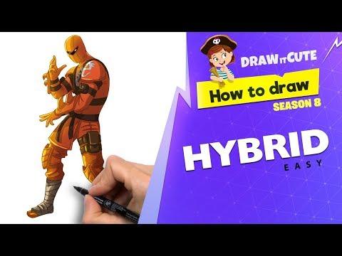 How to draw Hybrid easy | Fortnite Season 8 tutorial