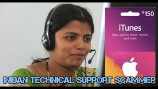Female Indian technical support scammer (asking to pay her via iTunes card )