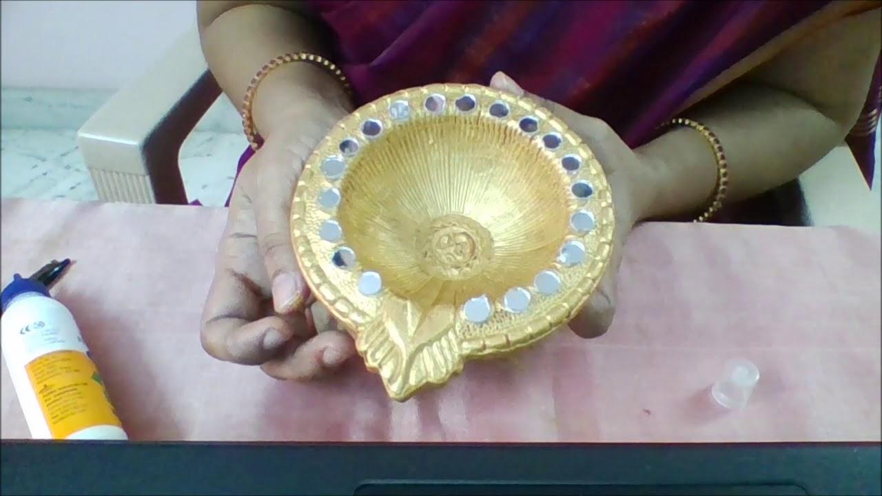 Karthigai Deepam special Diya decoration - YouTube