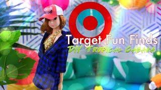 Target Bargin Bin Fun Finds PLUS DIY Tropical Cabana Doll Room Craft