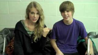 Taylor Swift  and Justin Bieber. BREAK A LEG??