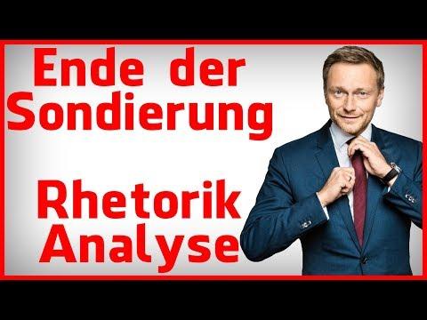 Christian Lindner (FDP) bricht Sondierungen ab - Körpersprache & Rhetorik Analyse