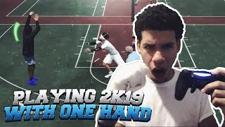 99 OVERALL GRIND RETURNS! ONE HANDED GAMEPLAY! GOATS ONLY DO GOAT THINGS! NBA 2K19!