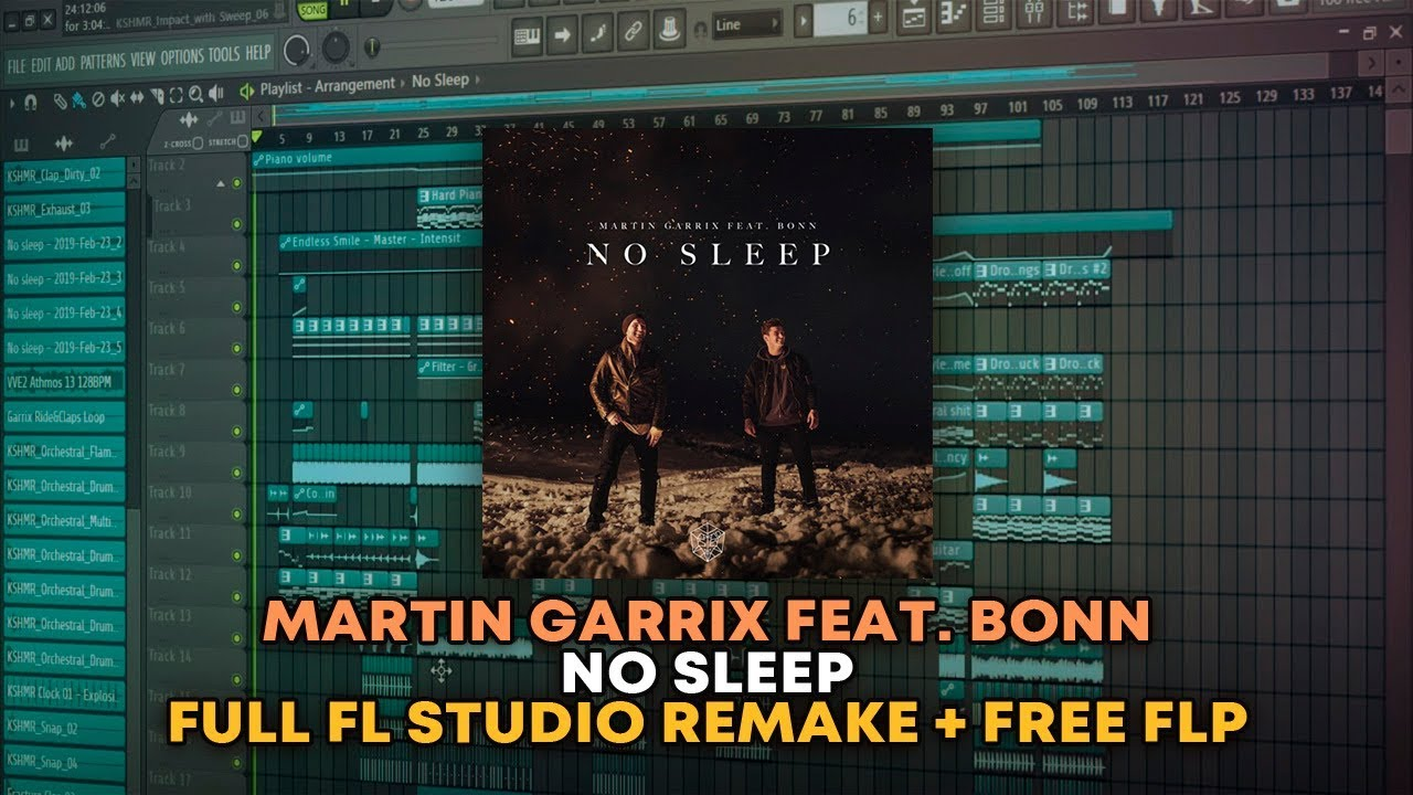 Martin Garrix Feat. Bonn - No Sleep [FL Studio Remake + FREE FLP]