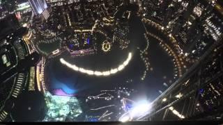 The Dubai Fountain from the 124th floor of Burj Khalifa