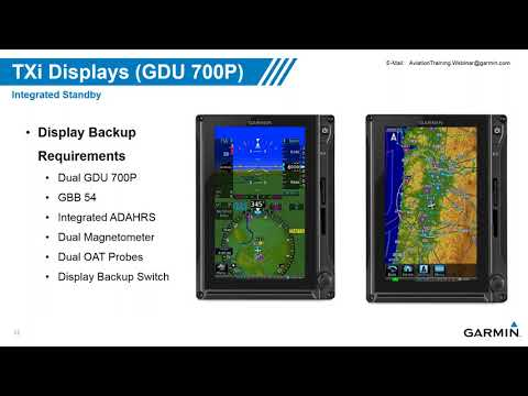 Garmin G500/G600 TXi Touchscreen Displays