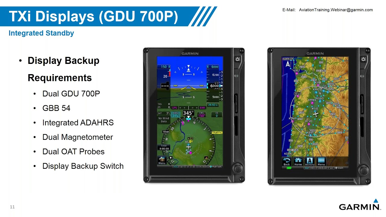 Garmin G500/G600 TXi Touchscreen Displays