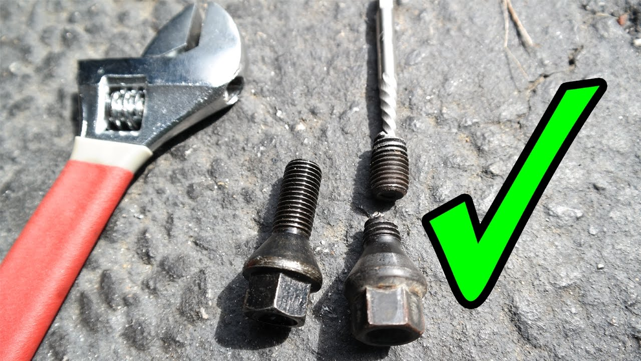 Remove Broken Bolt >> How To Remove Broken Off Wheel Bolts On A Bmw Youtube