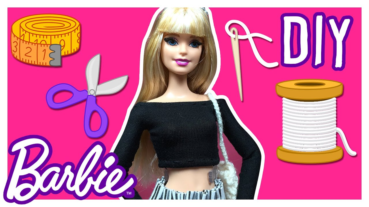 DIY How to Make Barbie Doll Blouse Barbie Clothes Tutorial
