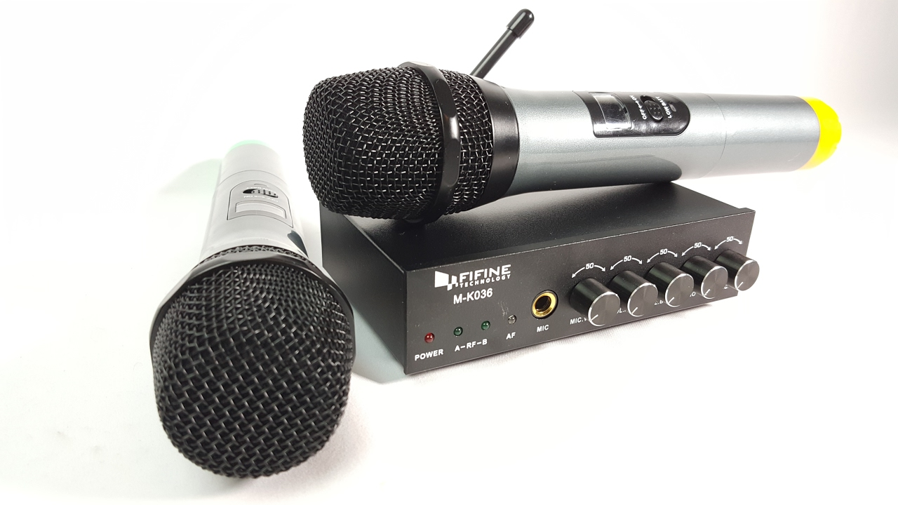 review and how to of fifine dual channel wireless handheld microphone youtube. Black Bedroom Furniture Sets. Home Design Ideas