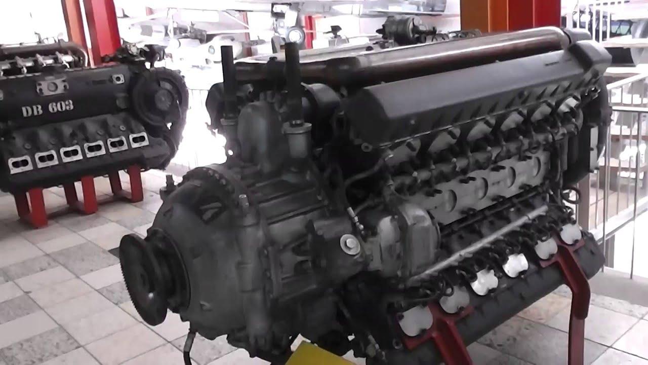 Mercedes Benz Museum >> Daimler-Benz DB 604 - Flugmotor von 1942 - YouTube