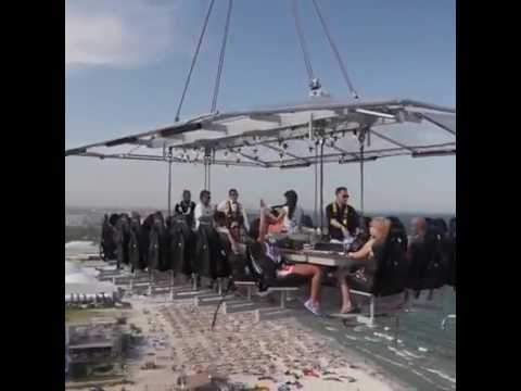 Dinner at 200 ft height in Air... Unbelievable and unforgettable