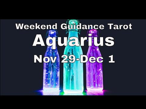 ♒ Aquarius weekend guidance tarot 📚   Does it add value or are you just lonely?   Nov 29-Dec 1