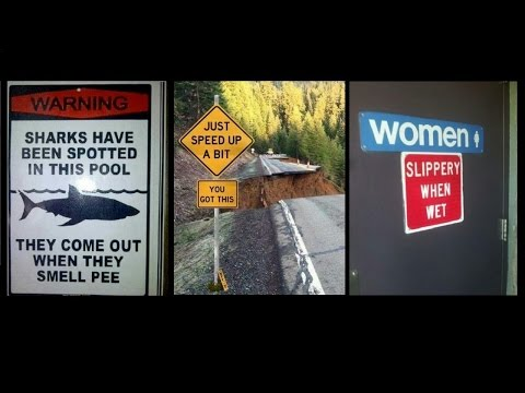 Funny Ironic Signs and Photos compilation