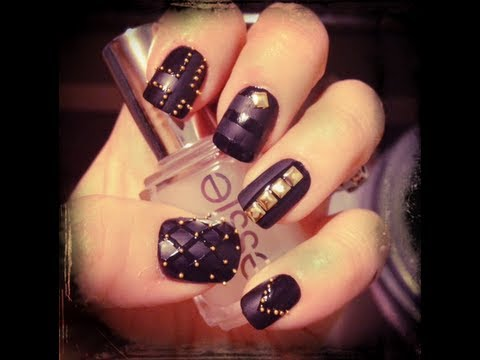 lady gaga inspired studded nail