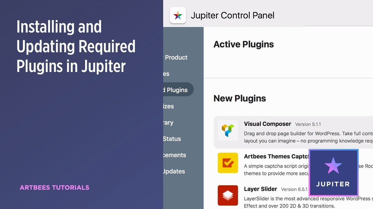 Updating Plugins and Add-ons - Jupiter Theme Documentation - Artbees