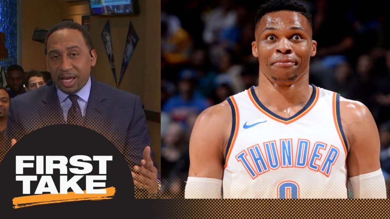 c2b1bfc37ee5 Stephen A. Smith on Russell Westbrook fan altercation  Straight punk move