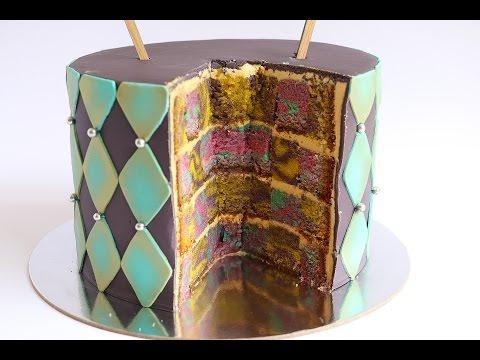 Alice In Wonderland Theme Checkered Cake- Rosie's Dessert Spot
