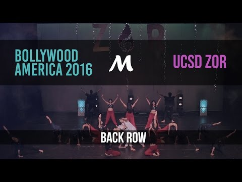 UCSD Zor | Bollywood America 2016 [Official Back Row]