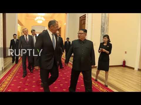 North Korea: Kim Jong-un welcomes Lavrov for Pyongyang talks