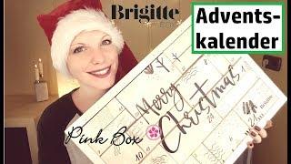 Brigitte & Pink Box Adventskalender 2018   Über 200 € Wert ???